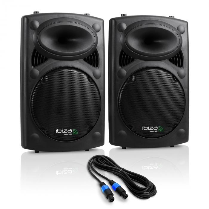 "SLK Paar PA-Boxen 2x 38CM (15"") Master Slave 1500W USB SD MP3"