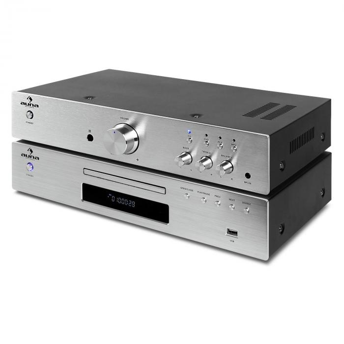"""Elegance Tower"" 2.0 HiFi Set CD-Player USB 600W Stereo-Cinch Digital-Out"