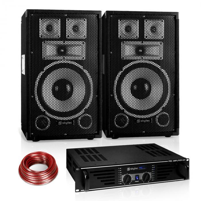 "PA Set Saphir Series ""Warm Up Party"" 10PLUS mit Paar Boxen & Verstärker 600W"