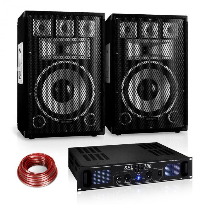 "PA Set Saphir Series ""Warm Up Party"" 12PLUS mit Paar Boxen & Verstärker 700W"