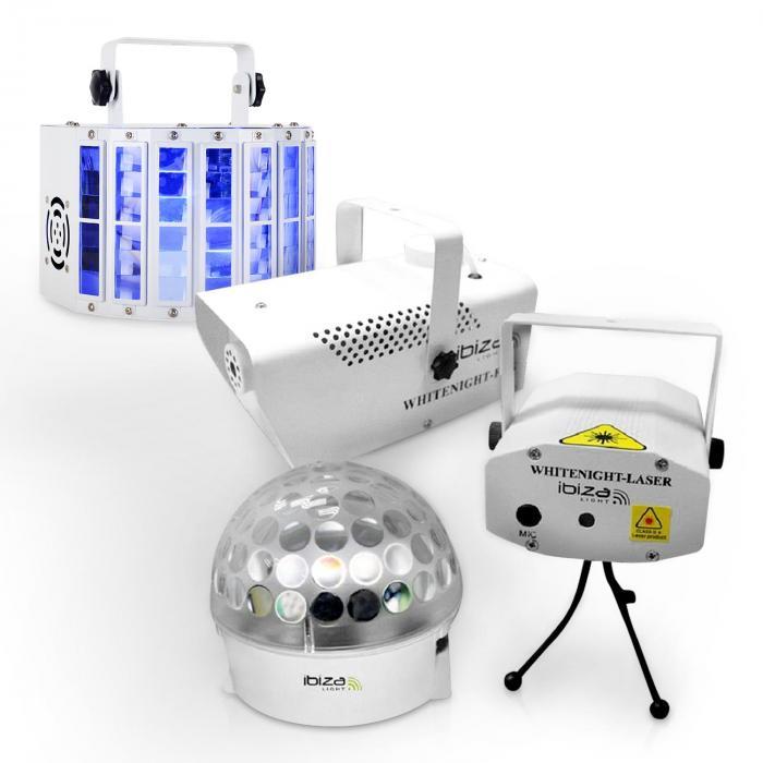 """Ibiza LED Lichteffekt Set """"White Light Party I"""""""