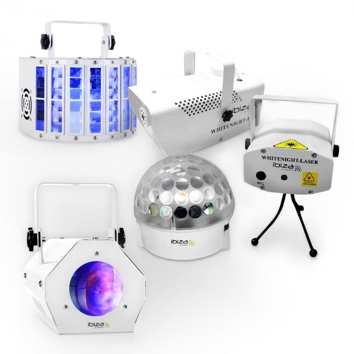 "Ibiza LED Lichteffekt Set ""White Light Party II """