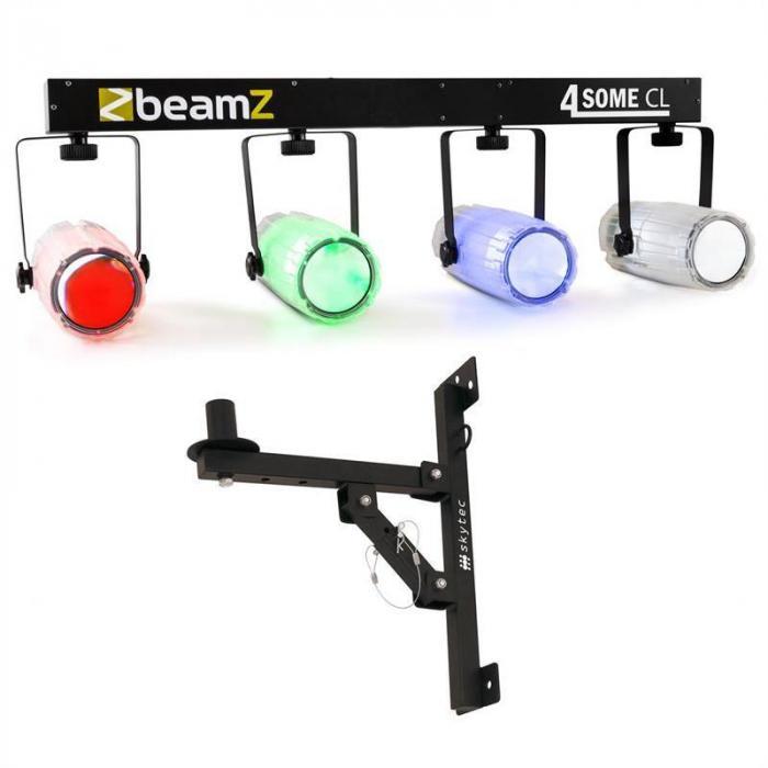 Beamz Light Set 4-Some II LED-Lichteffekt-Set 5-tlg. mit Wandhalterung