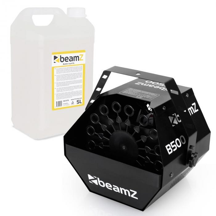 B500 Seifenblasen Maschine + 5l Beamz Seifenblasen-Fluid