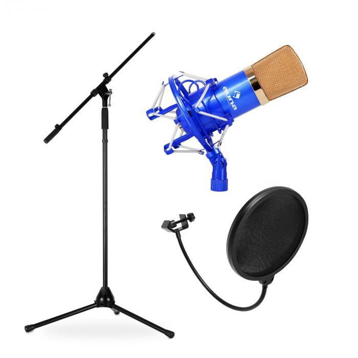 Bühnen- & Studio Mikrofonset CMBG001 mit Mikrofon, Stativ & Mikrofonabschirmung