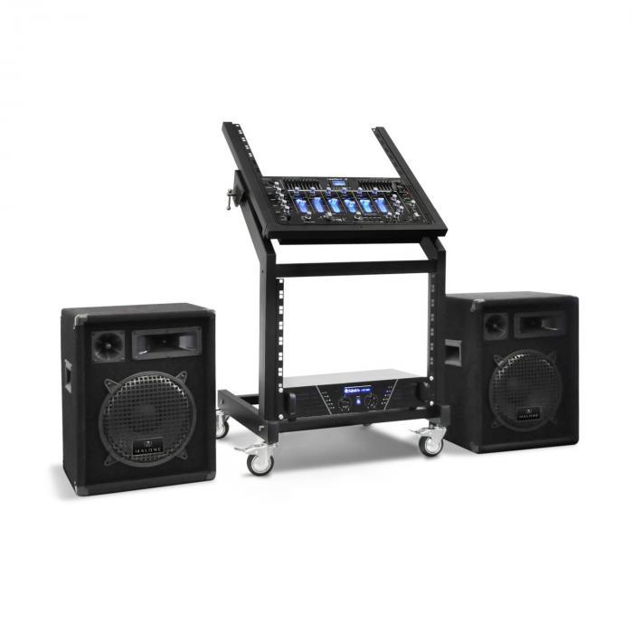 DJ PA Set Rack Star Series Pluto Gravity Bluetooth 200 Personen