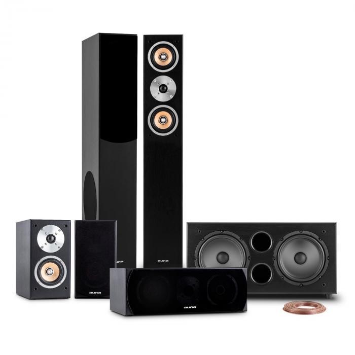 Linie-501-BK 5.1 Heimkino Soundsystem 600W RMS schwarz