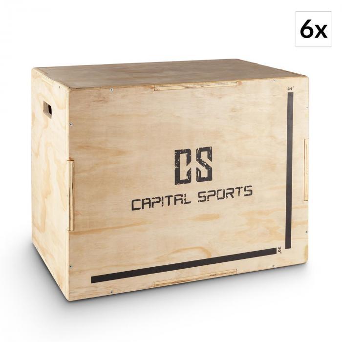 "Shineater BL Set Plyo-Box Jump Box 3 Höhen 20"" 24"" 30"" Holz"
