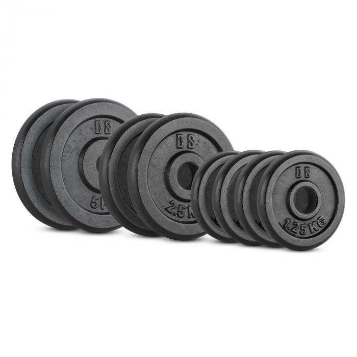 IPB 20kg Set Gewichtsscheibenset 4 x 1,25kg + 2 x 2,5kg + 2 x 5kg