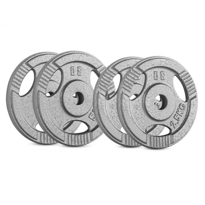 IP3H 15 kg Set Gewichtsscheibenset 2 x 2,5 kg + 2 x 5 kg 30 mm