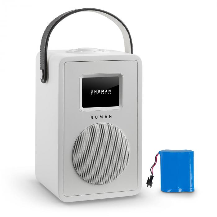 Mini Two Design-Internetradio WiFi DLNA Bluetooth UKW weiß inkl. Akku