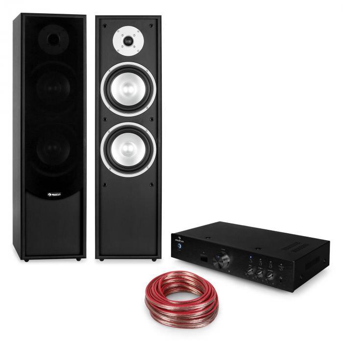 Linie-300 Bluetooth HiFi-Anlage Verstärker Standlautsprecher Passiv schwarz