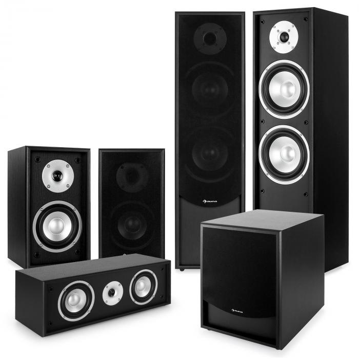 Black-Line 5.1 Heimkino-Set Soundsystem schwarz