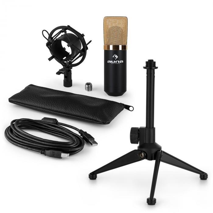 MIC-900BG-LED USB Mikrofonset V1   Kondensator-Mikrofon   Tischstativ
