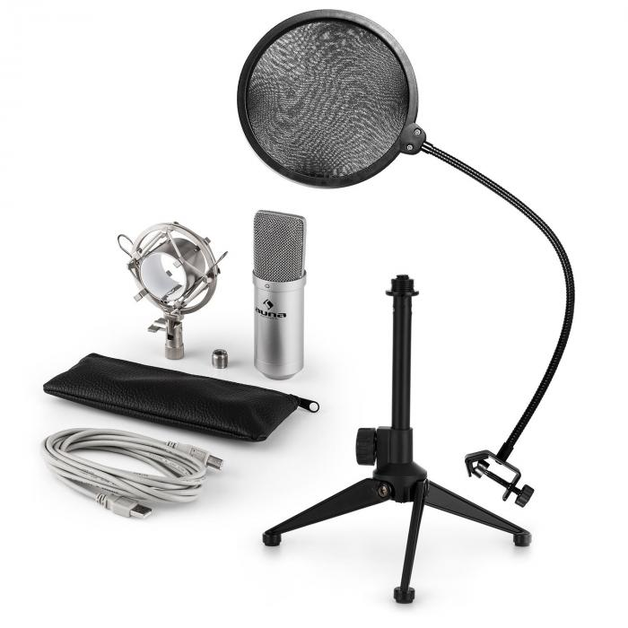 MIC-900S USB Mikrofonset V2 | Kondensator-Mikrofon |Popschutz | Tischstativ