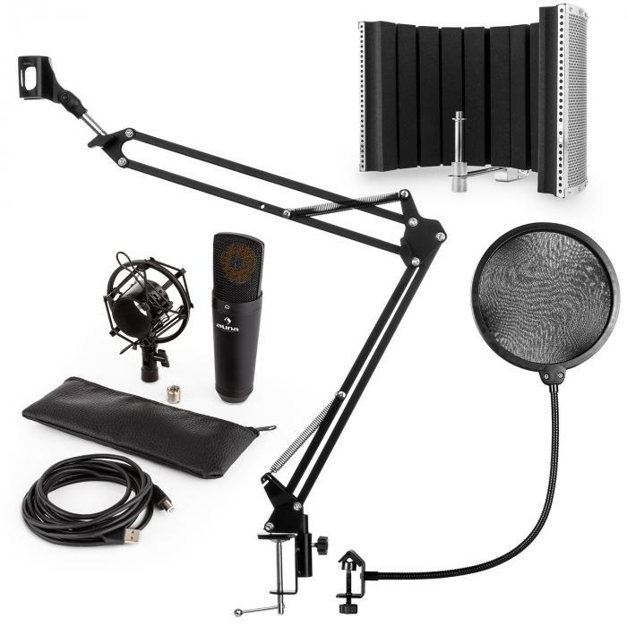 MIC-920B USB Mikrofon-Set V5 Kondensatormikro Arm Mikroschirm Pop-Schutz