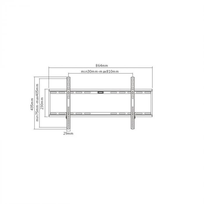LCD-Wandhalterung <160cm <75kg 3cm Wandabstand