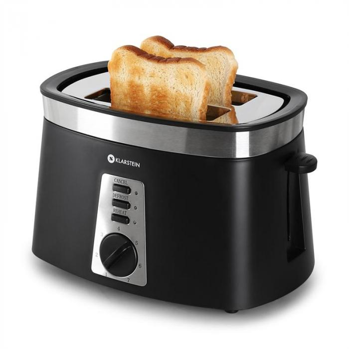 Sunday Morning Toaster schwarz Brötchenaufsatz