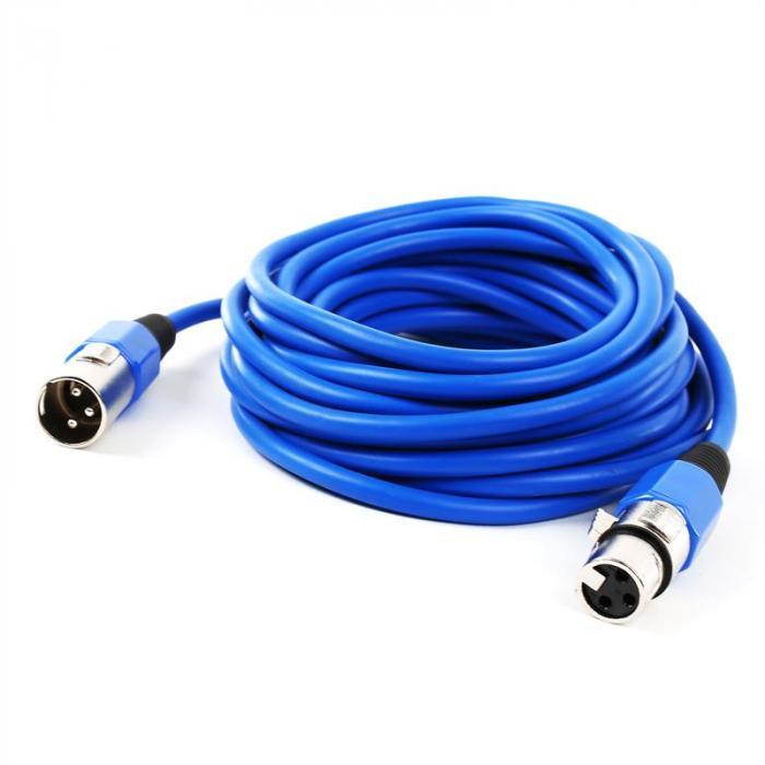 XLR-Kabel Set 4 Stück 6m blau männlich zu weiblich
