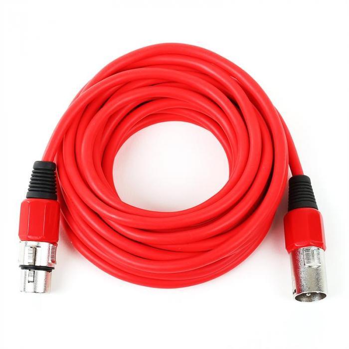 XLR-Kabel 6m rot männlich zu weiblich