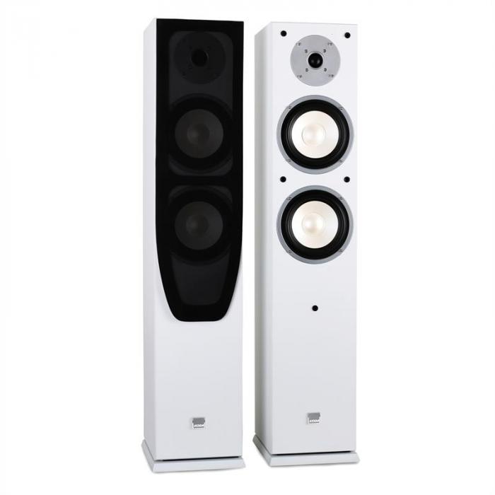 White Hifi Heimkino-System Verstärker & Design Boxen weiß