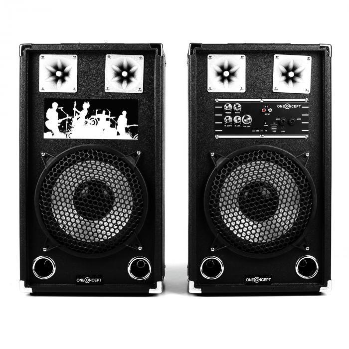 BSX-10A PA-Lautsprecher USB microSD AUX MIC 120W schwarz