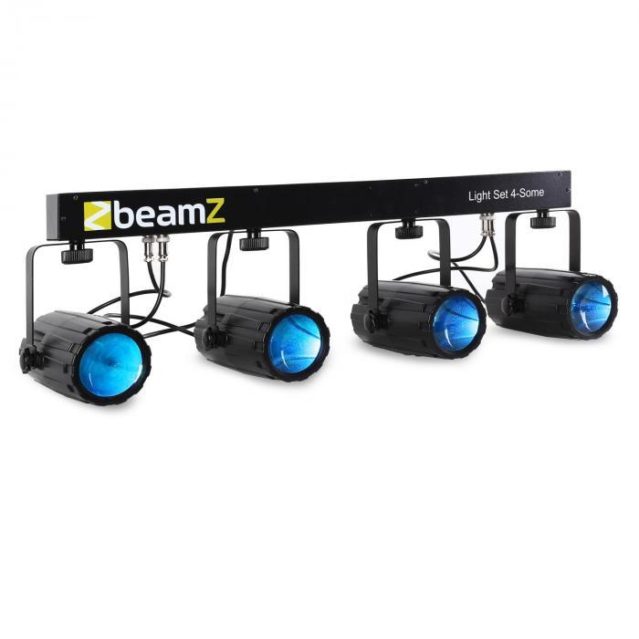 Beamz Light Set 4-Some LED-Lichteffekt-Set 5-tlg. mit Wandhalterung
