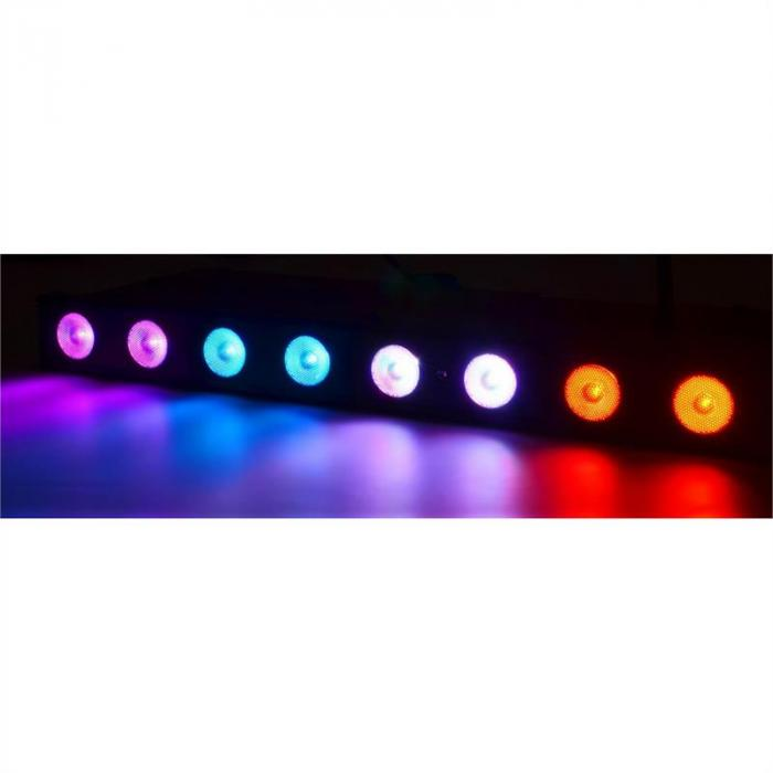 Professional Wi-Bar LED-Bar 8 x 3W Tri-Color DMX kabellos