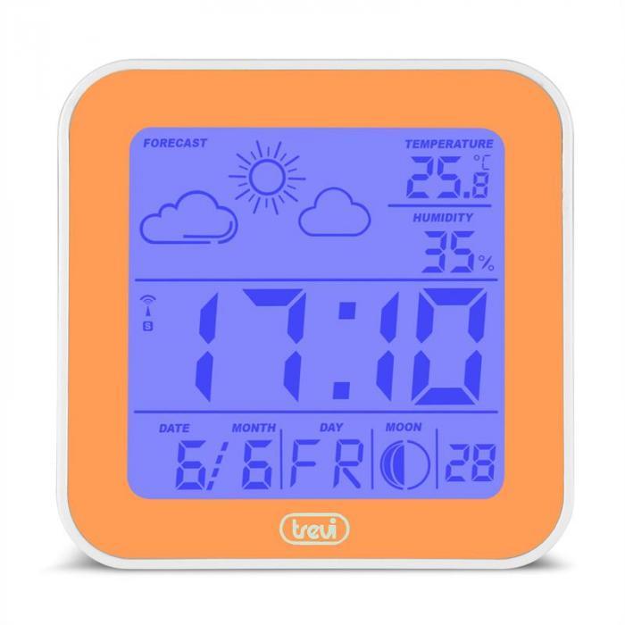 ME-3105 Wecker Wetterstation Thermometer Hygrometer Mondphasen orange