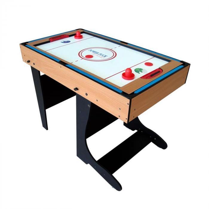 M12B-1F 4 in 1 Spieltisch klappbar 12 Spiele Airhockey Kicker Billard