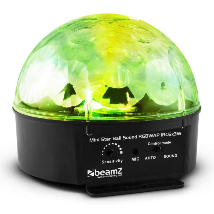 Starball LED-Lichteffekt 6 x RGBWAP LED 25W Fernbedienung schwarz