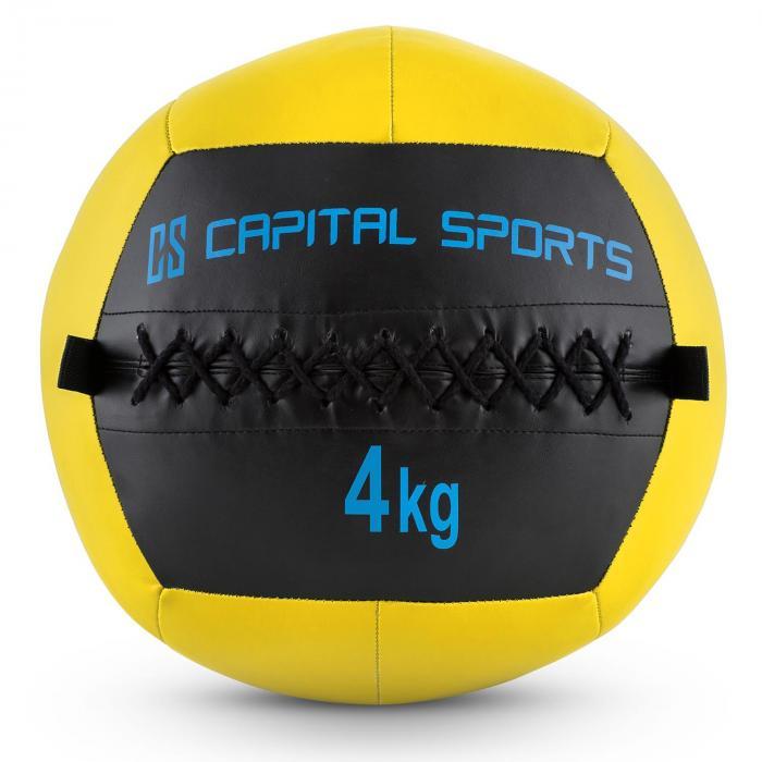 Epitomer Wall Ball 4kg Kunstleder gelb