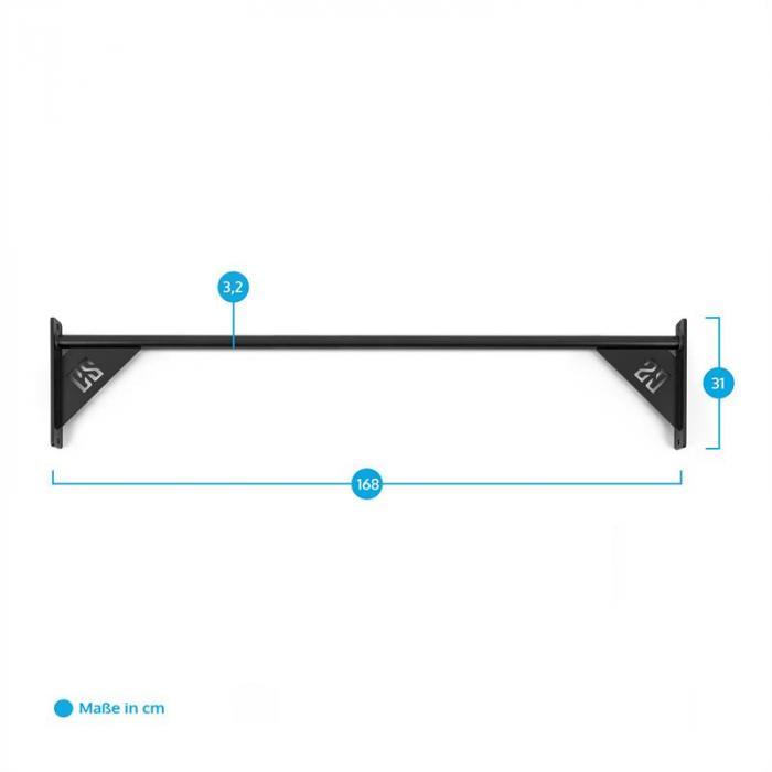 Single Bar 168 Klimmzugstange 168 cm Metall schwarz