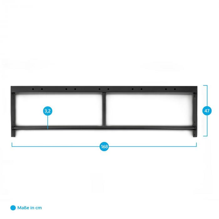 Double Bar 168 Doppel-Klimmzugstange 168 cm Metall schwarz