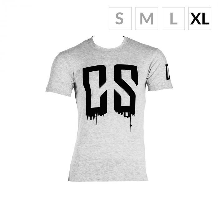 Beforce Trainings-T-Shirt für Männer Size XL grau meliert