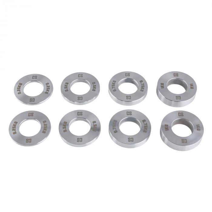 Crumb Set Fractional Plates 4 Gewichtspaare 0,25 - 1,0kg Chrom