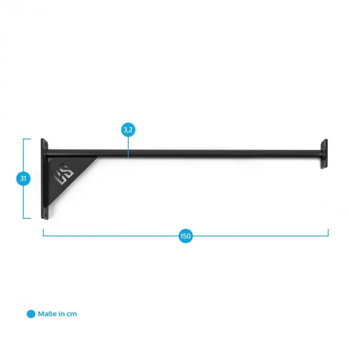 Wacon 150 Wall Bar Verbindungsstück 150 cm Metall Wandmontage