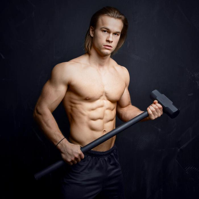 Big Knock Trainingshammer schwarz Stahl 12 kg
