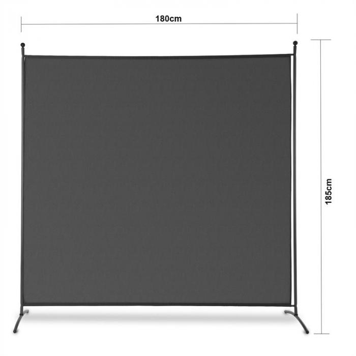 Brindisi Paravent Sichtschutz 1,8x1,8m Polyester 180g/m² Stahl