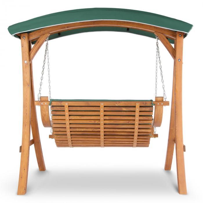 Tahiti Hollywoodschaukel 110 cm 2-Sitzer Sonnendach Polyester Lärche