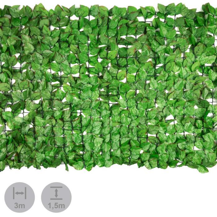 Fency Bright Leaf Sichtschutzzaun Windschutz 300x150 cm Buche hellgrün