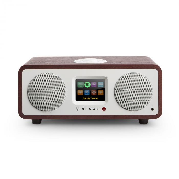 One - 2.1 Design Internet Radio 20W Bluetooth Spotify DAB+ Mahagoni