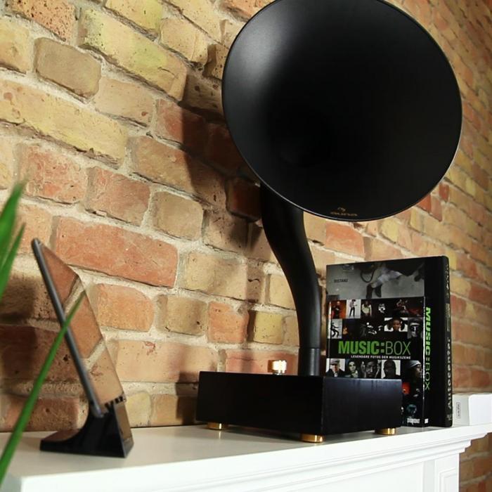 Tonal Horn-Lautsprecher Bluetooth AUX Aluminium-Trichter Holzgehäuse