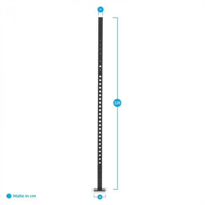 Dominate Edition Upright Basis Rack 2,28 m Metall schwarz