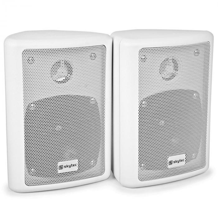 SKY-100 2-Wege-Stereo-Lautsprecher Paar 75W max. inkl. Montagematerial weiß