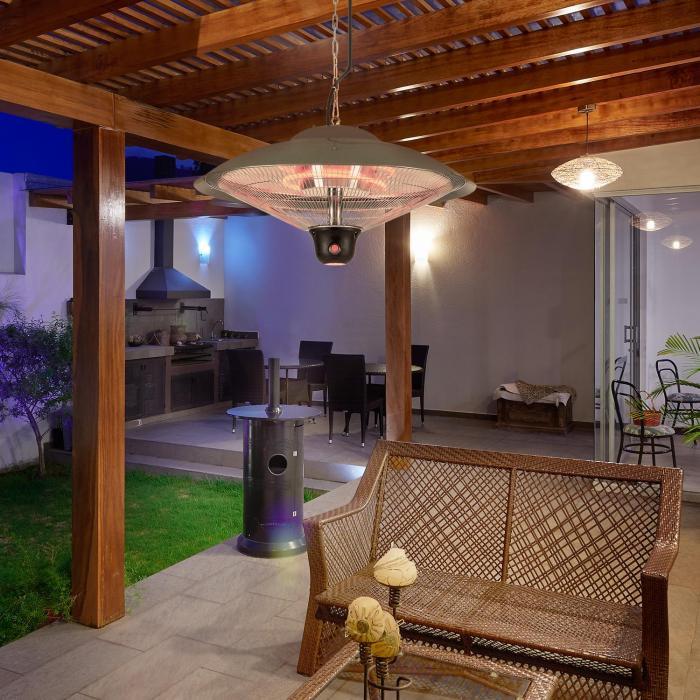 Heizsporn Deckenheizstrahler 60,5 cm (Ø) LED-Lampe Fernbedienung