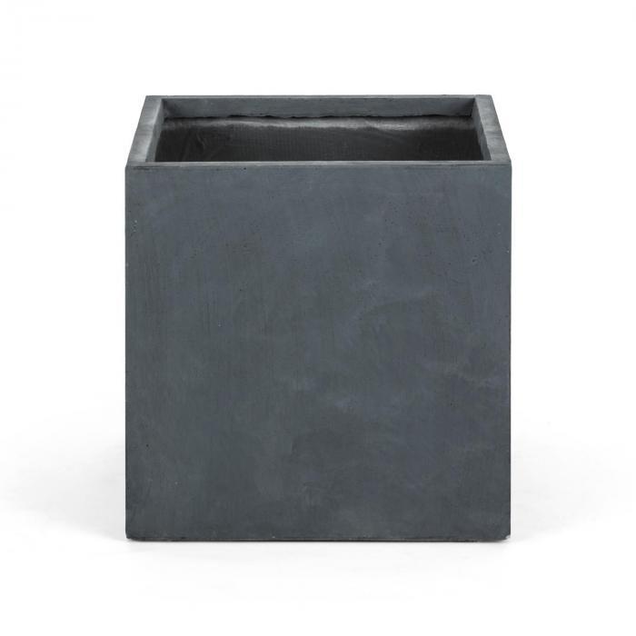 Solidflor Pflanzkübel Pflanzgefäß 50x50x50 cm Fiberton anthrazit