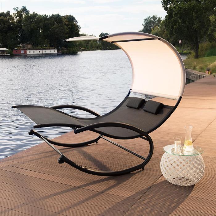 Suncruise Schaukelliege Gartenliege Sonnendach Polyester Stahl