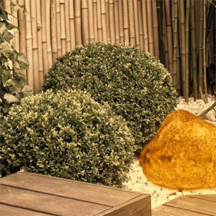 Shinerock Steinleuchte Gartenleuchte Sandstein Naturstein-Optik IP44