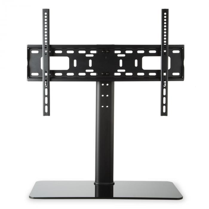 TV-Ständer Größe L Höhe 75 cm höhenverstellbar 23-55 Zoll Glasfuß schwarz